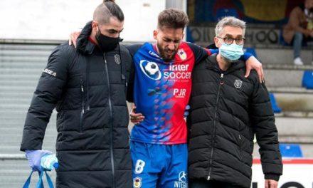 Álvaro Gómez sufre una lesión en los isquiotibiales