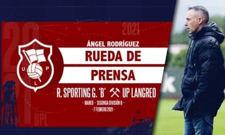 Ángel Rodríguez | Rueda de Prensa | R. Sporting Gijón 'B' – UP Langreo