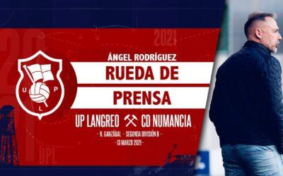 Ángel Rodríguez   Rueda de Prensa   UP Langreo – CD Numancia