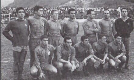 Se cumple el 60 aniversario del primer partido oficial del UP Langreo